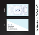 luxury business cards. vintage... | Shutterstock .eps vector #586406651