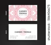 luxury business cards. vintage... | Shutterstock .eps vector #586406675