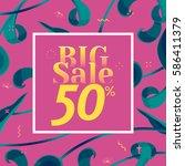 vector big sale banner. spring... | Shutterstock .eps vector #586411379