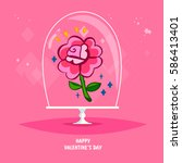 valentine s day set   greeting...   Shutterstock .eps vector #586413401