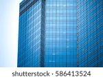 modern office building detail ... | Shutterstock . vector #586413524