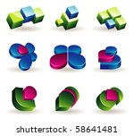 3d icons | Shutterstock .eps vector #58641481