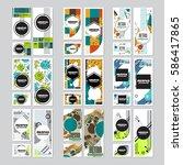 memphis background style design ... | Shutterstock .eps vector #586417865
