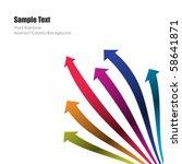 colored vector arrows | Shutterstock .eps vector #58641871