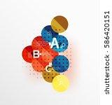 vector circle bubbles modern... | Shutterstock .eps vector #586420151