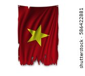 torn by the wind national flag... | Shutterstock .eps vector #586422881