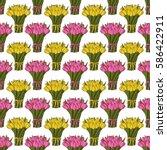 seamless vector pattern. yellow ... | Shutterstock .eps vector #586422911