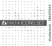 a wide range of simple icons... | Shutterstock .eps vector #586425614
