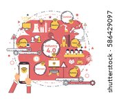 industry 4.0 concept business... | Shutterstock .eps vector #586429097