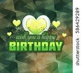 multicolored polygonal happy... | Shutterstock .eps vector #586429289