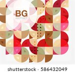 abstract background of circle... | Shutterstock .eps vector #586432049