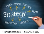 business strategy concept with... | Shutterstock . vector #586434107