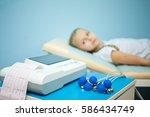 electrocardiogram  cardiac...   Shutterstock . vector #586434749