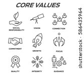 company core values outline... | Shutterstock .eps vector #586435964