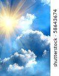 sunrise  sun  sky  clouds | Shutterstock . vector #58643674
