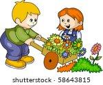 friends | Shutterstock .eps vector #58643815