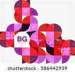 abstract background of circle... | Shutterstock .eps vector #586442939