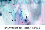 hand painted abstract artistic... | Shutterstock . vector #586445411