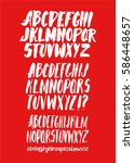 graphic font for your design.... | Shutterstock .eps vector #586448657
