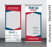 roll up brochure flyer banner... | Shutterstock .eps vector #586466399