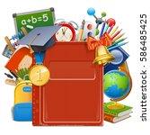 vector school book | Shutterstock .eps vector #586485425