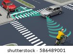 self driving electronic... | Shutterstock . vector #586489001