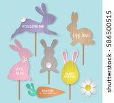 easter holiday banner design... | Shutterstock .eps vector #586500515