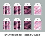 collection of bright tags  with ... | Shutterstock . vector #586504385