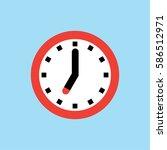 clock icon  7 o'clock vector... | Shutterstock .eps vector #586512971