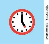 clock icon  5 o'clock vector... | Shutterstock .eps vector #586513007