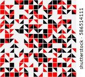 geometric seamless pattern... | Shutterstock .eps vector #586514111