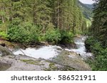 gerlos river flowing through... | Shutterstock . vector #586521911