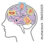 five senses disorder... | Shutterstock .eps vector #586531025