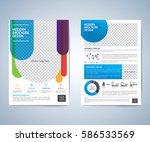 business brochure  leaflet ... | Shutterstock .eps vector #586533569