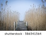 old wooden jetty structure in... | Shutterstock . vector #586541564