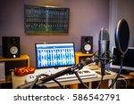 condenser microphone in digital ... | Shutterstock . vector #586542791