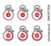 timer line icons  sport... | Shutterstock .eps vector #586547504