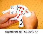 hands of the player with... | Shutterstock . vector #58654777