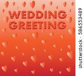 flying hearts. wedding card.... | Shutterstock .eps vector #586553489