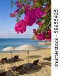 Paradise. Sandy Beach With...