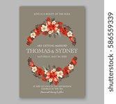 romantic wedding invitation... | Shutterstock .eps vector #586559339