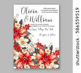 romantic wedding invitation... | Shutterstock .eps vector #586559519
