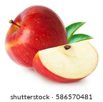 Isolated Apples. Whole Red...