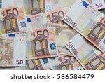 banknote fifty euros. inflation ... | Shutterstock . vector #586584479