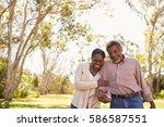 outdoor shot of mature couple...   Shutterstock . vector #586587551