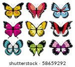 butterfly collection | Shutterstock . vector #58659292