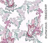 seamless ornate pattern with...   Shutterstock . vector #586602449