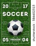 soccer vector poster template | Shutterstock .eps vector #586602515