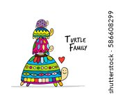 Funny Family  Turtle With...
