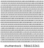 binary code zero one matrix... | Shutterstock .eps vector #586613261